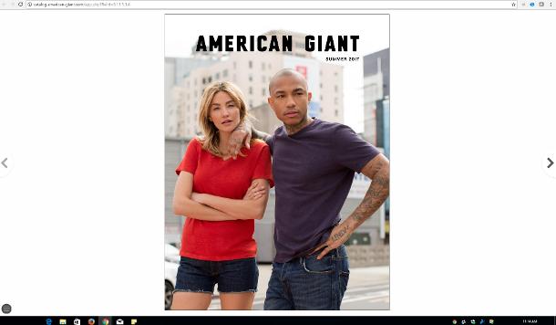 American Giant Online Catalog